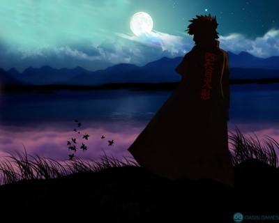 moon silhouettes naruto shippuden yondaime minato namikaze lakes_www