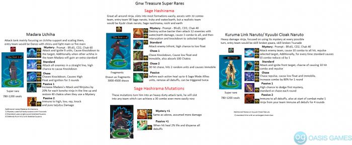 Seven Swordsman Super rares