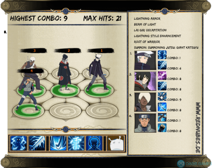 Lightning Main Sasuke Susano'o Shield Team