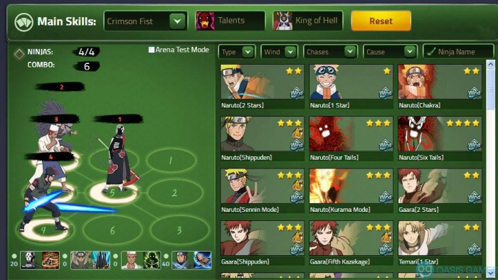 Naruto Online Ideal Lineup 1