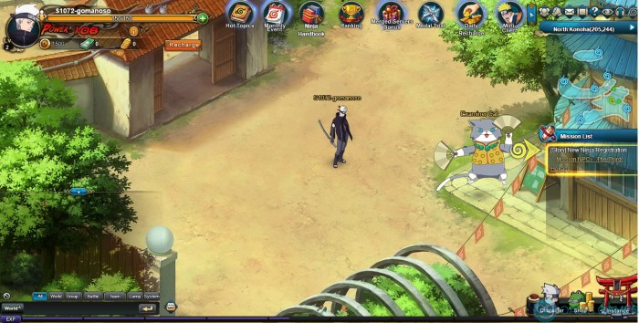 Official Naruto MMORPG Game200907014439