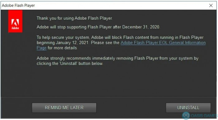 flash new popup