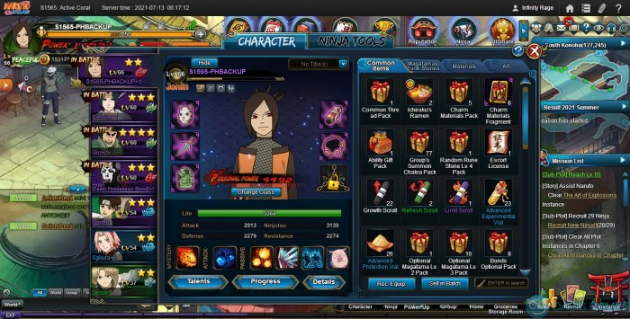 S1565 - Infinity Rage - Naruto Online210713061713